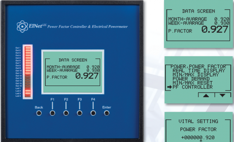 Elnet LTC Power Factor Controller 16 Step Network TCP-RS485  www.gee.com.vn.png